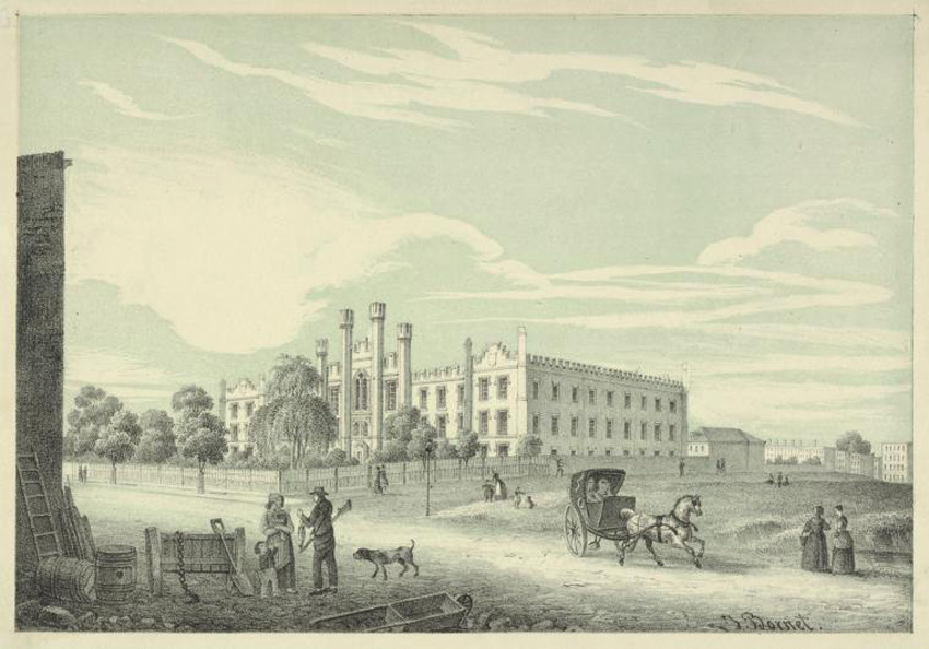Early image of the school circa 1850