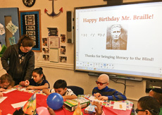 Louis Braille's Birthday Party